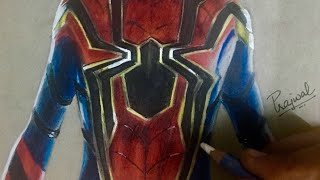Speed Drawing: Spiderman Homecoming- New Iron Spider suit
