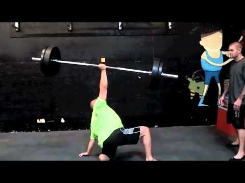 Meatball 185 lb Barbell Turkish Get Up