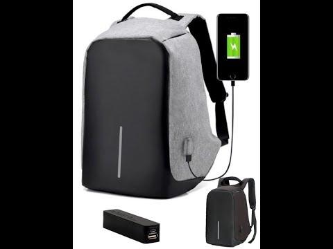 Lopásbiztos vízálló hátizsák USB töltővel - 9990 Ft - (meghosszabbítva: 2905288610) Kép