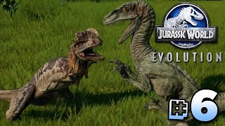 Raptor Vs Dilophosaurus! - Jurassic World Evolution | Ep6