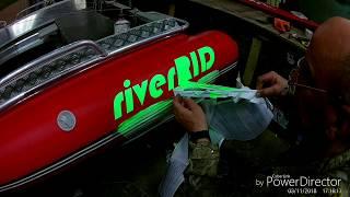 Какой шрифт и размер используется для номеров лодок