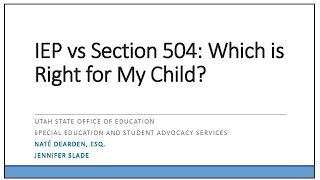 IEP vs. Section 504 Plans:  Which Is Right for My Child?