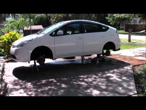 Toyota Prius Maintenance + Painting The OE Wheels Matte Black
