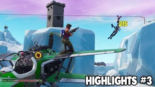 Crazy AirPlane Double Snipe! (Highlights #3) Fortnite - Hicko