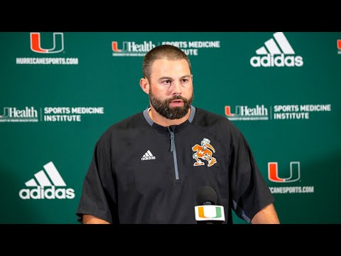 What does Miami Hurricanes' Blake Baker think about Manny Diaz's involvement on defense?