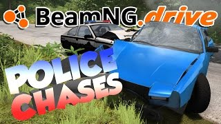 BeamNG.drive Gameplay - Police Chases! - Let's Play BeamNG.drive