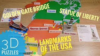 Solving 3D puzzles Statue of Liberty Golden Gate Bridge Geography of the United States