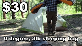 Suisse Sport Sleeping Bag Review - $29.99, 0 degree compression bag - McFly Angler Reviews
