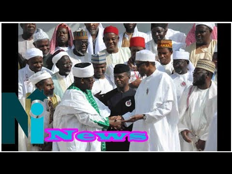 Buhari, osinbajo meet muslim leaders in aso rock [photos/video]