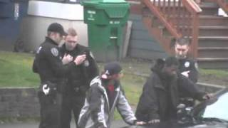 seattle police gang unit cops steal cellphone central district!
