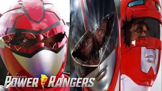 All Red Ranger Broken Visors | Power Rangers | Power Rangers Official