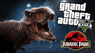 GTA 5 Mods - JURASSIC WORLD T-REX ATTACK MOD! (GTA 5 Mods Gameplay)