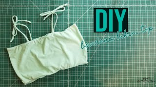 DIY Bandeau Bikini Top: How To Draft And Sew Your Own Simple Bandeau Swimsuit Top