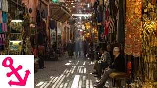 preview picture of video '[FULL HD] 1 Minute at the Souks in Marrakech Morocco - 1 Minute bei den Souqs in Marrakesch Marokko'