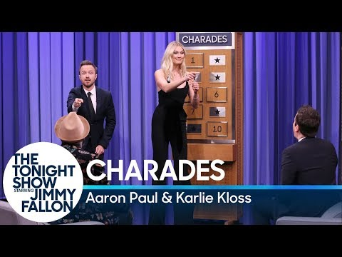 Charades with Aaron Paul and Karlie Kloss