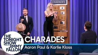 Jimmy and Karlie Kloss battle it out against Aaron Paul and The Roots' Tarik Trotter in a game of charades.  Subscribe NOW to The Tonight Show Starring Jimmy Fallon: http://bit.ly/1nwT1aN  Watch The Tonight Show Starring Jimmy Fallon Weeknights 11:35/10:35c Get more Jimmy Fallon:  Follow Jimmy: http://Twitter.com/JimmyFallon Like Jimmy: https://Facebook.com/JimmyFallon  Get more The Tonight Show Starring Jimmy Fallon:  Follow The Tonight Show: http://Twitter.com/FallonTonight Like The Tonight Show: https://Facebook.com/FallonTonight The Tonight Show Tumblr: http://fallontonight.tumblr.com/  Get more NBC:  NBC YouTube: http://bit.ly/1dM1qBH Like NBC: http://Facebook.com/NBC Follow NBC: http://Twitter.com/NBC NBC Tumblr: http://nbctv.tumblr.com/ NBC Google+: https://plus.google.com/+NBC/posts  The Tonight Show Starring Jimmy Fallon features hilarious highlights from the show including: comedy sketches, music parodies, celebrity interviews, ridiculous games, and, of course, Jimmy's Thank You Notes and hashtags! You'll also find behind the scenes videos and other great web exclusives.  Charades with Aaron Paul and Karlie Kloss http://www.youtube.com/fallontonight