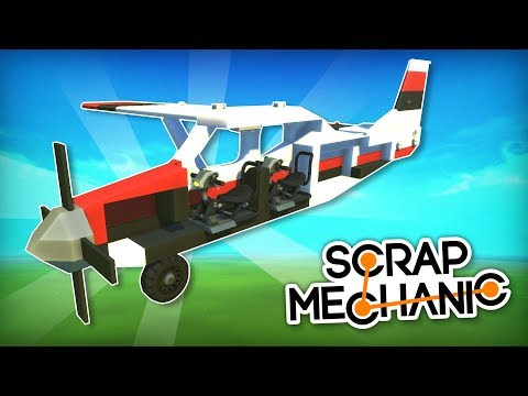 I Only Had to Build Half of a Plane and Mirror it! - Scrap Mechanic Mirror Mod