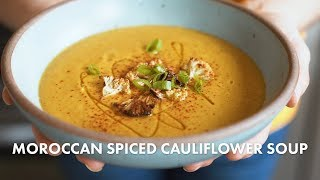 Moroccan Spiced Cauliflower Soup