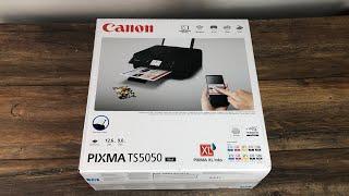 Canon Pixma TS5050 günstiger WIFI Airprint Drucker # Unboxing Review