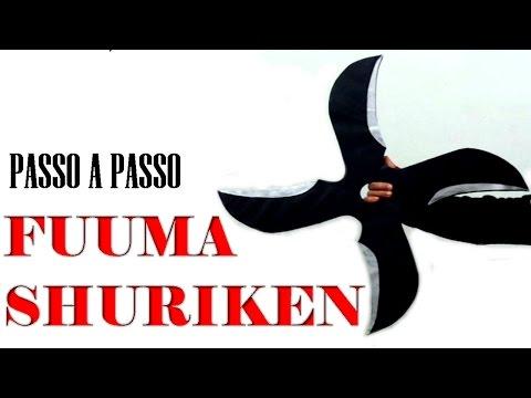 Aprenda a fazer uma Fuuma Shuriken de papelão !