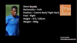 Steve Bayeke Clips V Larne Reserve's No 4 Blue Boots