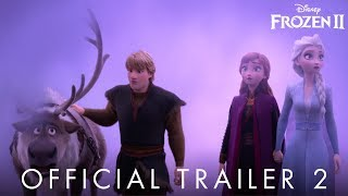 "Check out the brand-new trailer for Frozen 2 now, and see the film in theaters November 22.   Why was Elsa born with magical powers? What truths about the past await Elsa as she ventures into the unknown to the enchanted forests and dark seas beyond Arendelle? The answers are calling her but also threatening her kingdom. Together with Anna, Kristoff, Olaf and Sven, she'll face a dangerous but remarkable journey. In ""Frozen,"" Elsa feared her powers were too much for the world. In ""Frozen 2,"" she must hope they are enough. From the Academy Award®-winning team—directors Jennifer Lee and Chris Buck, producer Peter Del Vecho and songwriters Kristen Anderson-Lopez and Robert Lopez—and featuring the voices of Idina Menzel, Kristen Bell, Jonathan Groff and Josh Gad, Walt Disney Animation Studios' ""Frozen 2"" opens in U.S. theaters on Nov. 22, 2019.  Facebook: https://facebook.com/DisneyFrozen/ Twitter: https://twitter.com/DisneyFrozen IG: https://www.instagram.com/DisneyFrozen/ Hashtag: #Frozen2"