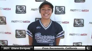 2021 Eliana Enriquez Speedy Slapper and Shortstop Softball Skills Video - Ca Breeze North State