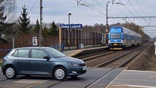 Vlaky na nefunkčním přejezdu - Dolní Lutyně, 19.03.2016