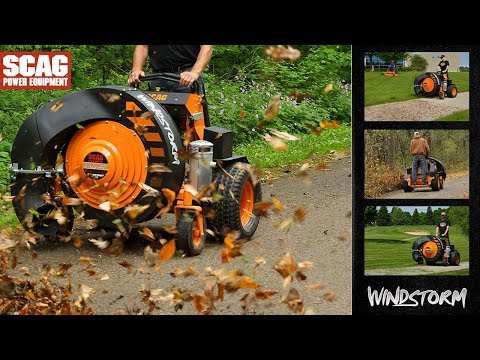SCAG Power Equipment Windstorm Briggs Vanguard EFI 37 hp in Elma, New York - Video 1