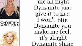 Christina Aguilera - Dynamite (Lyrics On Screen)