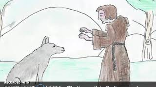 Saint Francis of Assisi, Patron Saint of Italy, and the wolf