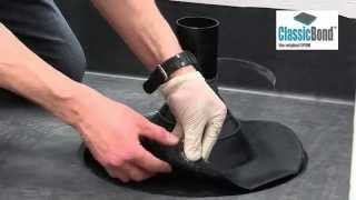 How to cover EPDM roof pipe penetration using a Pipe Seal or boot. (video)