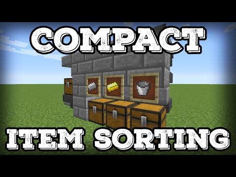 Minecraft Tutorial - Compact Automatic Item Sorter - Expandable(Minecraft 1.12+)