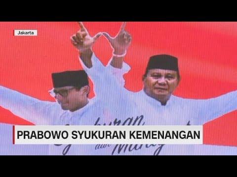 Prabowo Syukuran Kemenangan Lagi, Sandiaga Uno Tak Hadir