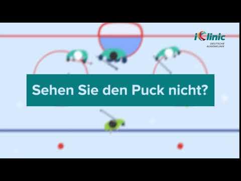 Genieße ein Eishockeyspiel ohne Brille