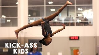 Download Youtube: 10 Year Old Gymnast Set To Become Olympic Star | KICK-ASS KIDS