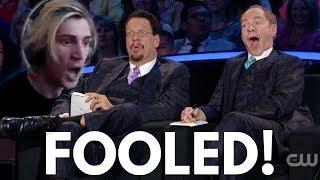 xQc Reacts to Penn & Teller: Fool Us // Adam Wilber Totally Baffles Them!