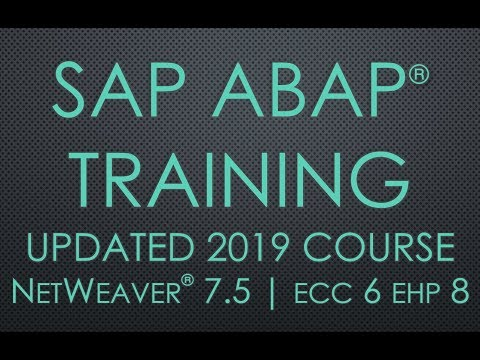 Session 1- Introduction to SAP and ABAP | SAP ABAP Training ...