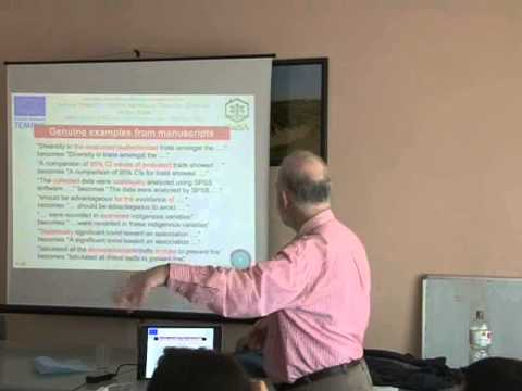 Writing scientific papers: 8 Improving the English - YouTube