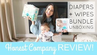 Honest Company Diaper Bundle Unboxing + Review! Is It Worth It?? | Justine Marie