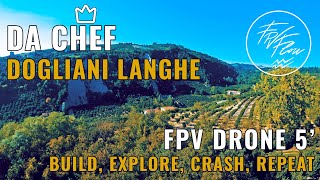 FPVFlow   Langhe - Dogliani - Italy   5 inch FPV drone over hazel wood and vineyards