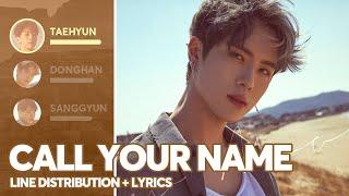 JBJ - Call Your Name (Line Distribution + Lyrics   - YouTube