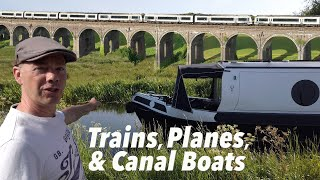 Trains, Planes, and Canal Boats. A Narrowboat Journey to Lower Heyford.