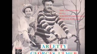 """Arletty et Georges Ulmer """" viens, viens, mad'leine ! """" 1959"""