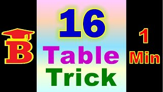 16 Table Trick