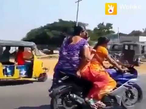 Sport Bike Pe Aunty Nice Video