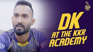 Dinesh Karthik at the KKR Academy | KKR Hai Taiyaar