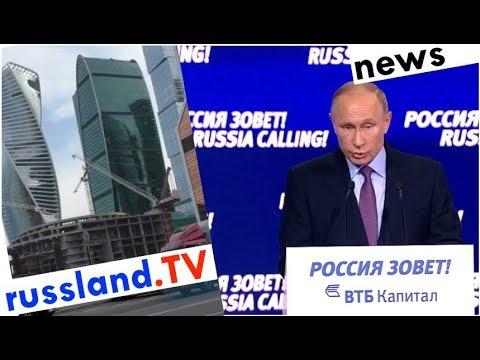Putin ruft Investoren für Russland [Video]