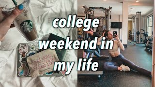 productive college weekend - how i study, healthy grocery haul, + more