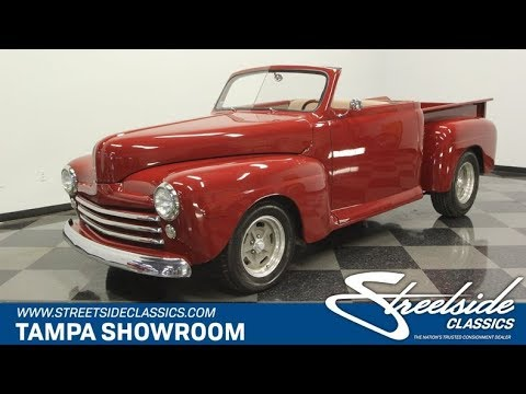 Video of Classic 1948 Ford F1 located in Florida Offered by Streetside Classics - Tampa - QD66